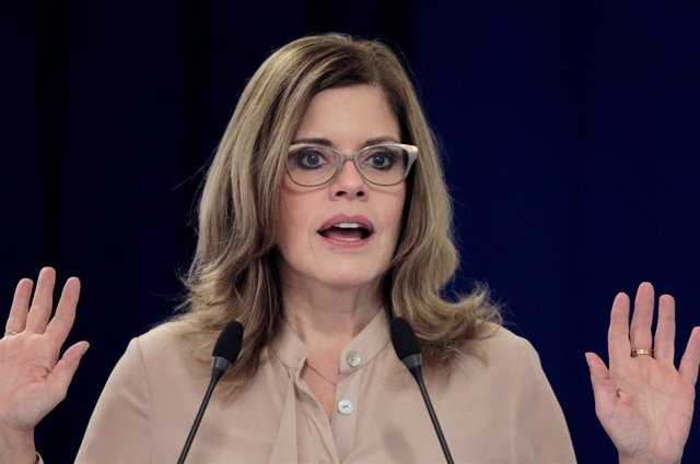 La primera ministra peruana Mercedes Aráoz