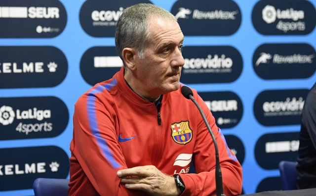 El entrenador del FC Barcelona Lassa, Andreu Plaza