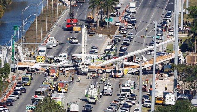 Puente derrumbado en Florida