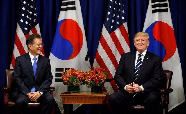 Moon Jae In y Donald Trump