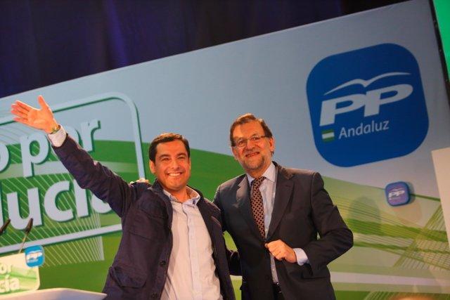 Rajoy y Moreno en un mitin en Jerez de la Frontera