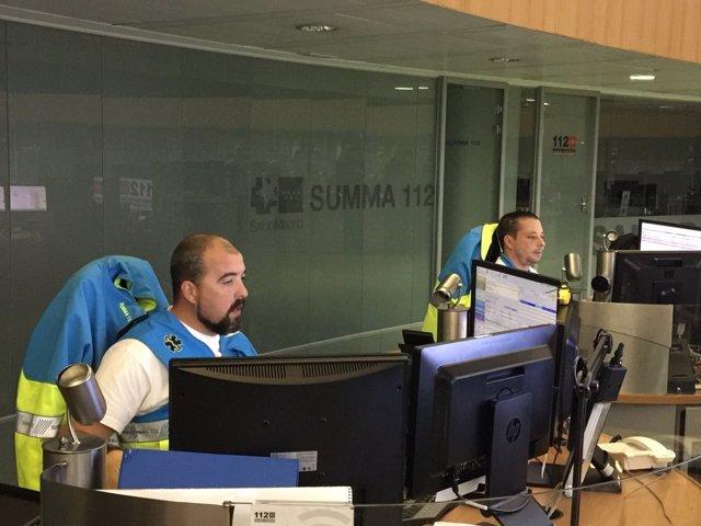 Centro de gestión de llamadas del SUMMA 112