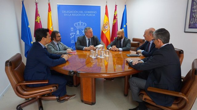 José Miguel Luengo con Bernabé, Rivera y García Legaz