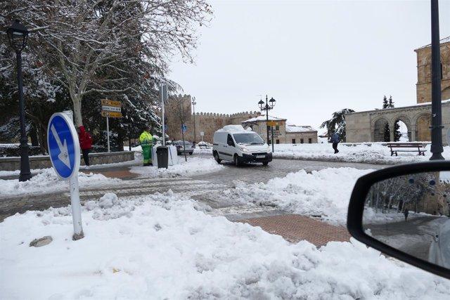 Nieve en Ávila (imagen de archivo)