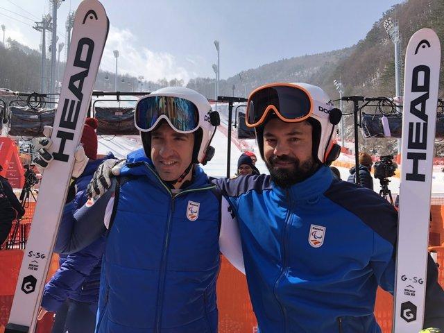 Jon Santacana y su guía Miguel Galindo Juegos Paralímpicos Invierno PyeongChang