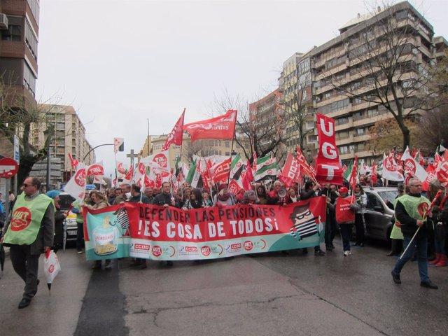Manifestación de pensionistas en Cáceres