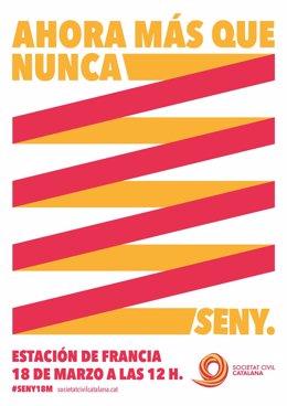 Cartel de SCC de la manifestación del domingo