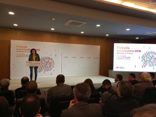 Marta Rovira en la jornada municipalista de ERC