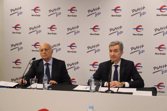 José Luis Aguirre y Víctor Iglesias este sábado en la rueda de prensa.