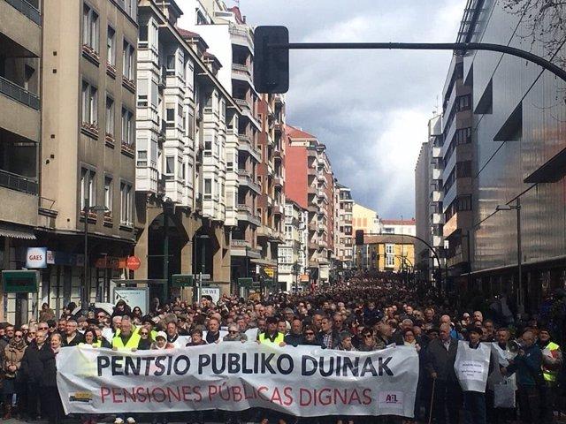 Manifestación de este sábado en Vitoria