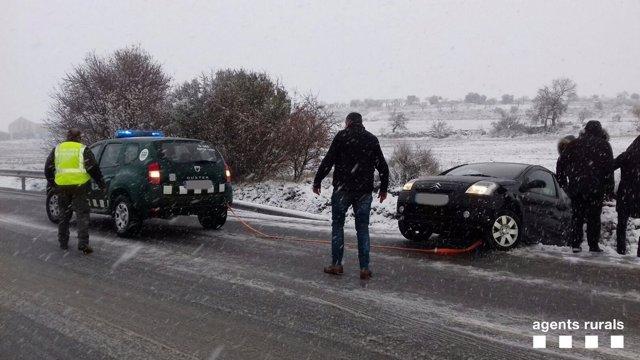 Nieve en las carreteras