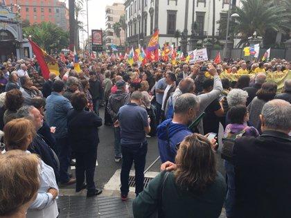 La Delegación del Gobierno cifra en 14.400 los asistentes a las manifestaciones en Canarias por unas pensiones dignas
