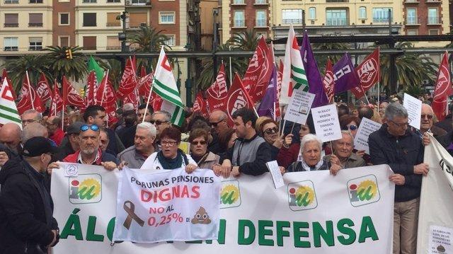 Manifestación pensionistas Málaga
