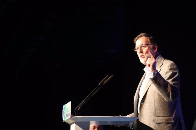 El presidente del Gobierno, Mariano Rajoy, en un acto en Marbella