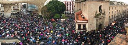 Decenas de miles de manifestantes en Andalucía en defensa de las pensiones públicas
