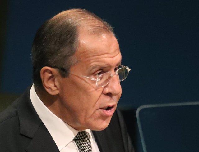 El ministro de Exteriores de Rusia, Sergei Lavrov