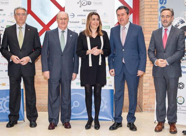 Susana Díaz, en un acto del Colegio de Ingenieros de Andalucía Occidental