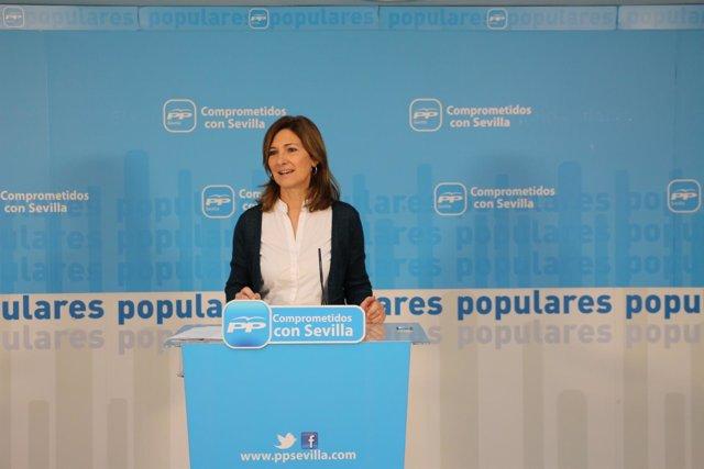 Alicia Martínez en la rueda de prensa