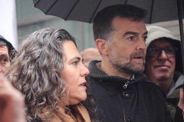 Antonio Maíllo, en la manifestación por las pensiones dignas