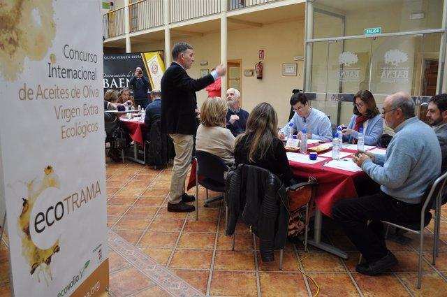 Catadores del Premio Internacional de Aceite Ecológico en Córdoba