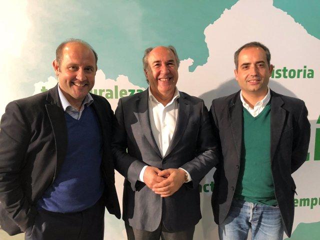 Candidatos del PP a las alcaldías de Cádiz, Jerez y Algeciras