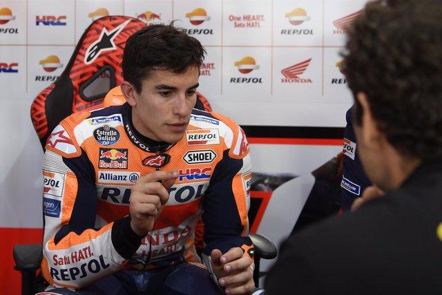 Marc Márquez entrena en Catar para el Campeonato del Mundo de MotoGP