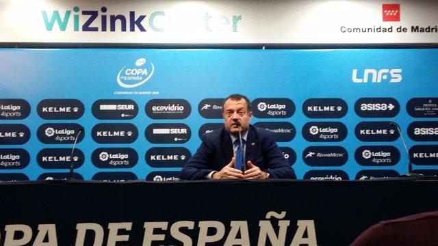El entrenador de Movistar Inter, Jesús Velasco