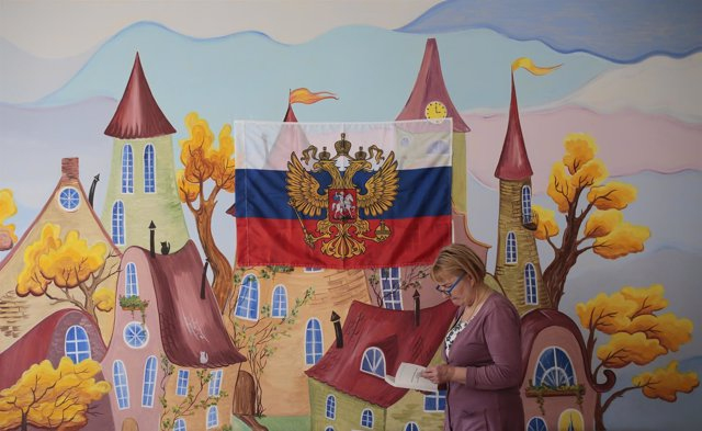 Colegio electoral en San Petersburgo