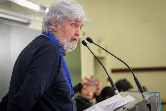 Xosé Manuel Beiras en el plenario de En Marea del 17 de marzo de 2018