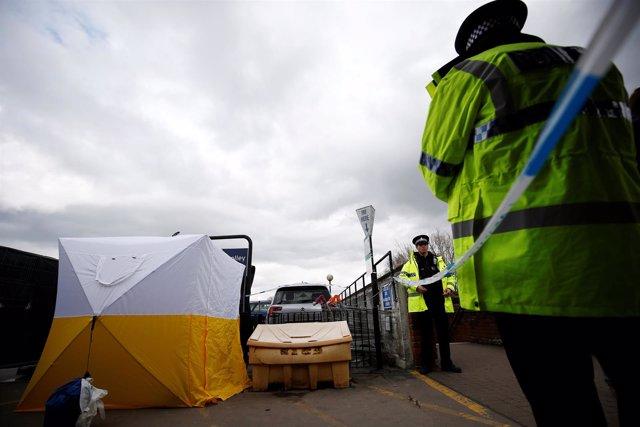 Cordón policial tras el ataque contra el exespía Sergei Skripal