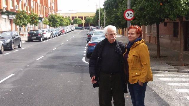 El delegado del Distrito Sur de Sevilla, Joaquín Castillo, en el Tiro de Línea