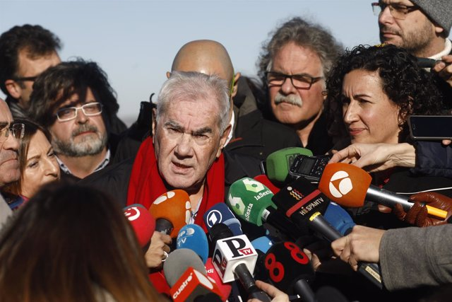 Ernest Maragall y Marta Rovira en el acto de campaña de ERC