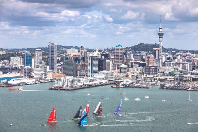 MAPFRE Auckland salida séptima etapa 7 Volvo Ocean Race