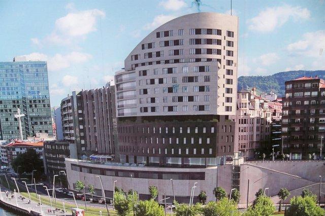 Recreación del futuro hotel Vincci Bilbao