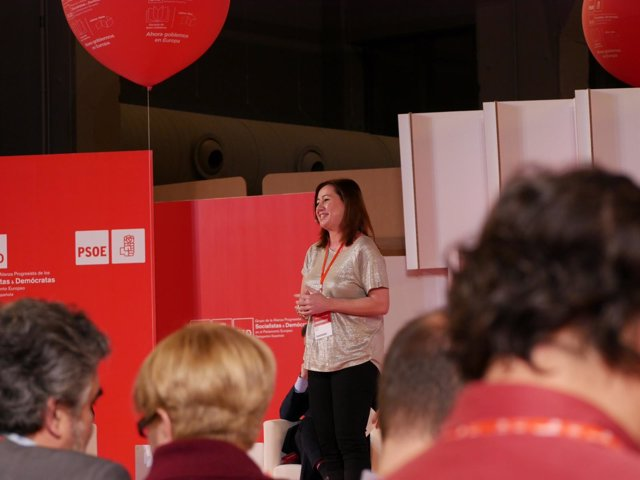 Armengol en la Escuela de Buen Gobierno del PSOE en Madrid