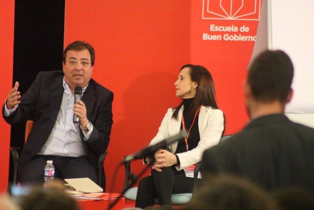 Fernández Vara interviene en la Escuela de Buen Gobierno del PSOE
