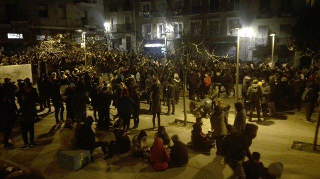 Manifestación en Lavapiés por la muerte de Mbad