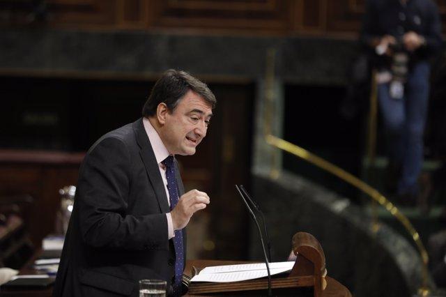Intervención de Aitor Esteban en el pleno del Congreso sobre las pensiones