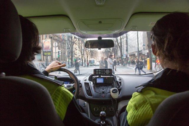 Patrulla de la Policía Municipal de Bilbao