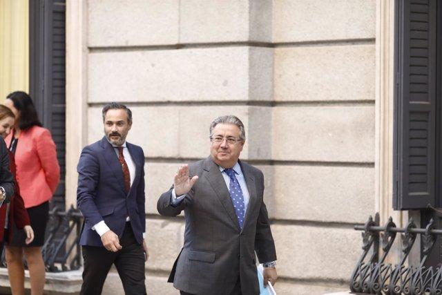 Juan Ignacio Zoido entra en el Congreso