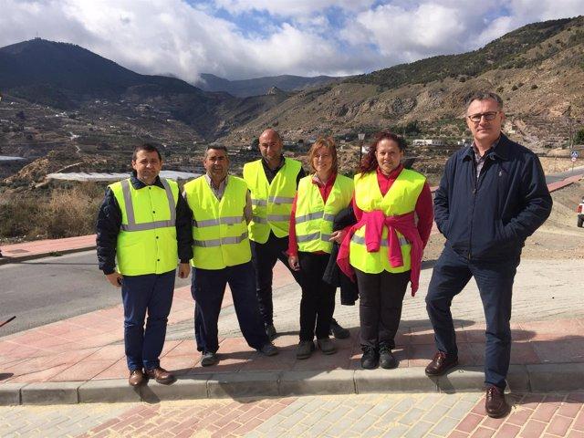 Visita de la Diputación de Almería a proyectos del PFEA en Alhama