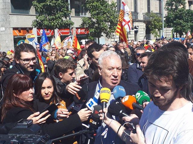 J.M. García Margallo en la manifestación de SCC