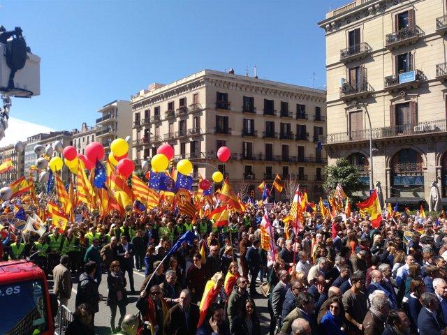 Manifestación de este domingo de SCC en Barcelona