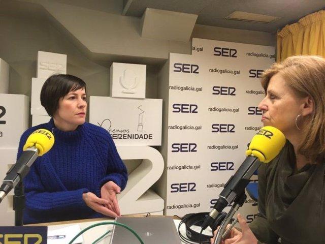 Ana Pontón, en entrevista en Radio Galicia