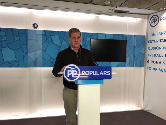 El presidente del PP en el Ayuntamiento de Barcelona, Alberto Fernández/ARCHIVO
