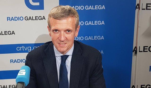 Alfonso Rueda en la Radio Galega