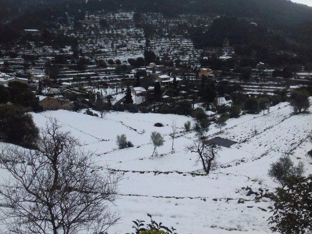 Nieve, Valldemossa, frío, nevar, invierno, tiempo, recurso