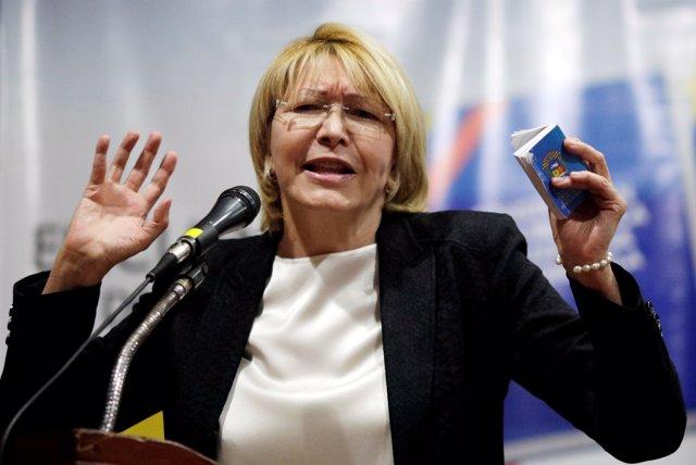 Luisa Ortega Díaz, ex fiscal general de Venezuela, en una imagen de archivo