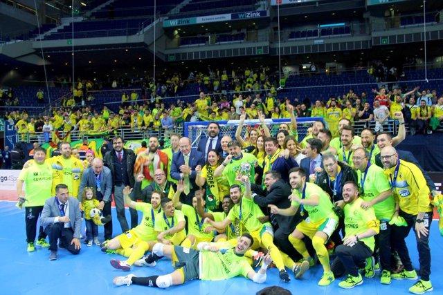 El Jaén, paraíso interior Fútbol Sala celebra su segunda Copa de España