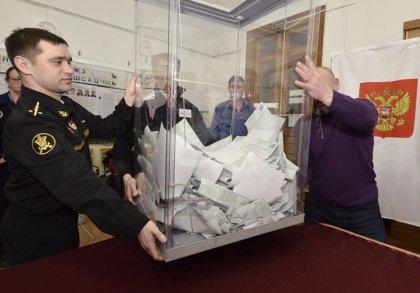 La participación de las elecciones rusas alcanza el 67 por ciento con el 91,5 por ciento de los votos escrutados